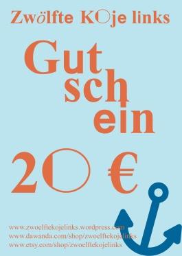 Gutschein 20 €