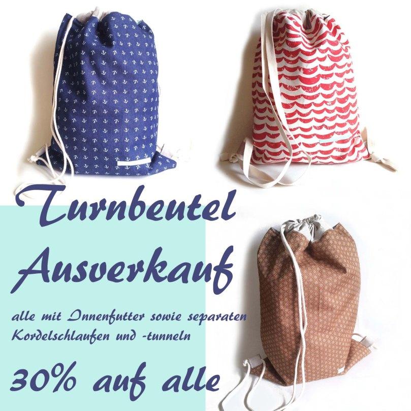 Turnbeutel Ausverkauf SALE 2017