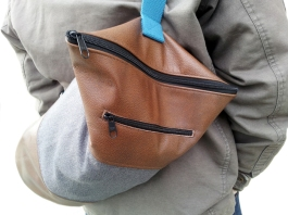 Tube Bag Upcycling-Leder