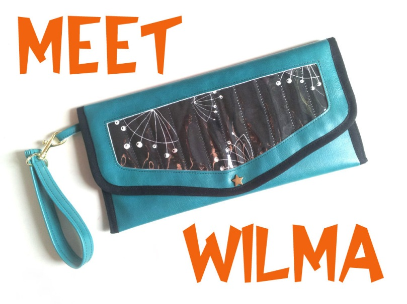 Sixties inspired Clutch Wilma
