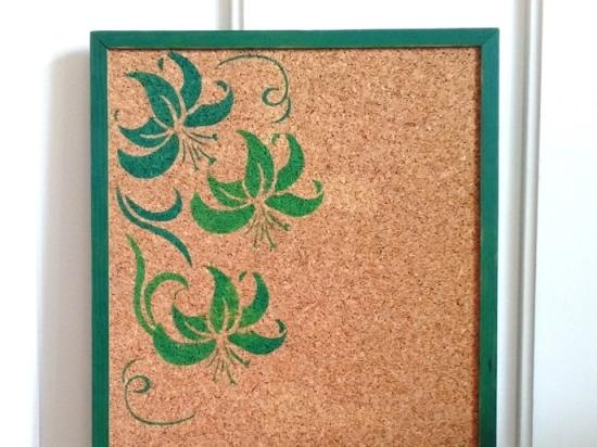 Pinnwand mit Stendcildruck