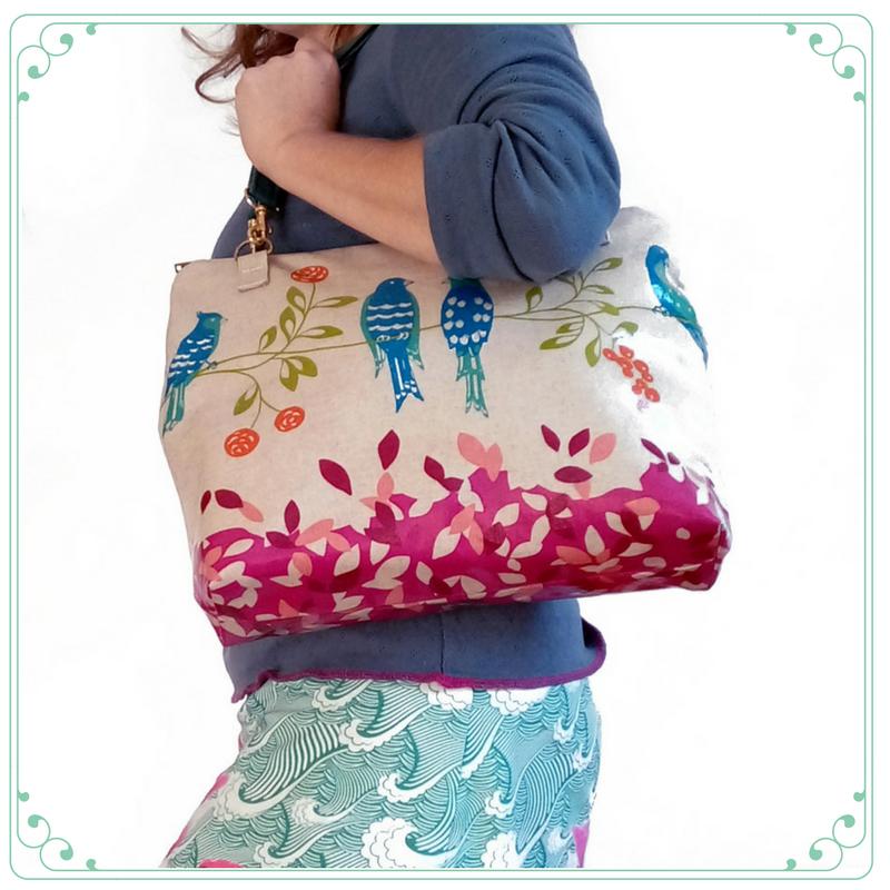 Pin Up Bag Echino Bird Song_1