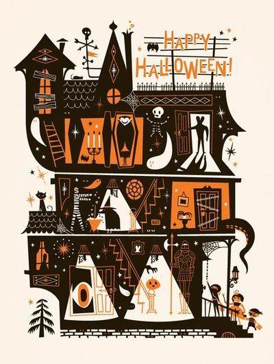Halloween Poster Deko 1960´s