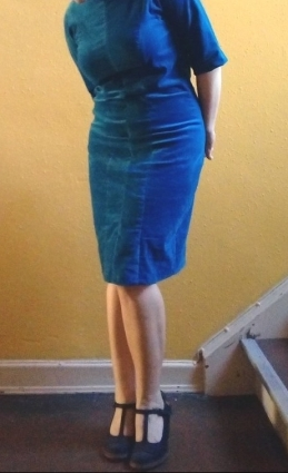 Pencil dress Gretchen Hirsch Nickisamt