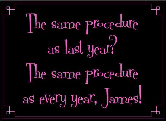 Same procedure blog