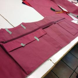 Produktion Segeltuchtasche 2