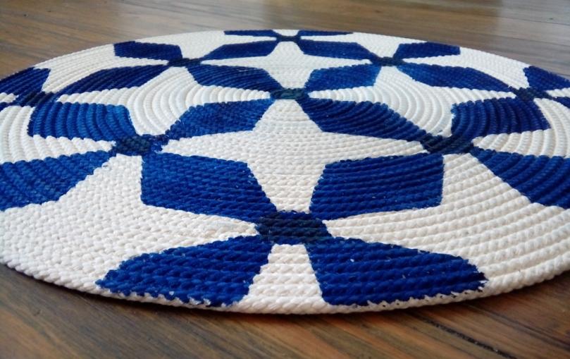 Marokkanischer Teppich aus Baumwollkordel