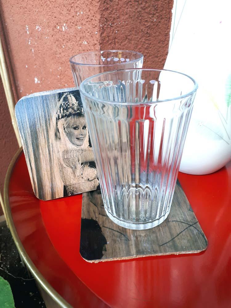 DIY Glasuntersetzer Holzfurnierpapier