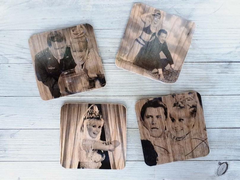 Glasuntersetzer Holzfurnier DIY