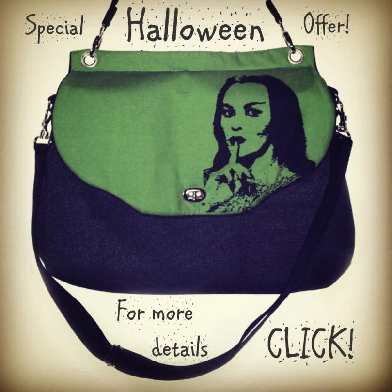 Halloween Angebot Handtasche Lily Munster